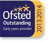 Logo: Ofsted Outstanding Early Years Provider 2013-2014