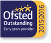 Logo: Ofsted Outstanding Early Years Provider 2015-2016